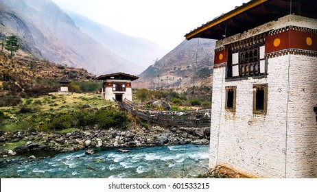 Dzong in Paro, Bhutan