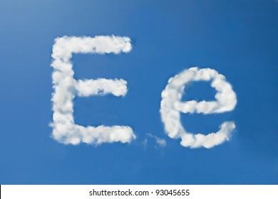 E font clouds