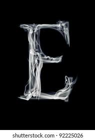 E Letter of smoke alphabet