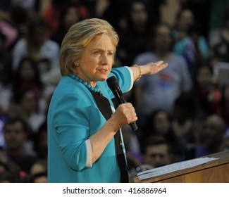 E LOS ANGELES COLLEGE, MONTEREY PARK, CA - MAY 5, 2016 - Cinco de Mayo, Secretary State Hillary Clinton Addresses Mostly Latino Presidential Rally
