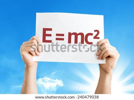 E = mc2 card