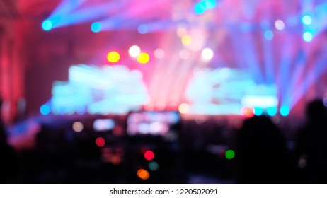e sport bokeh live production streaming event backstage party concert colorful