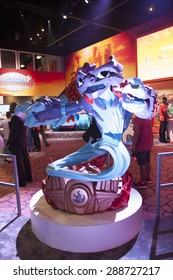 E3; The Electronic Entertainment Expo at the Los Angeles Convention Center, June 16, 2015. Los Angeles, California. Character display at Activision game, Skylanders Superchargers booth..