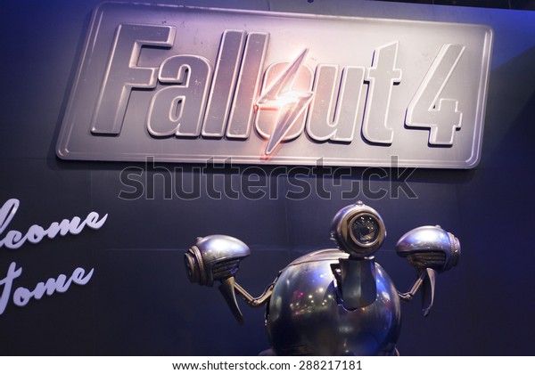 E3; The Electronic Entertainment Expo at the Los Angeles Convention Center, June 16, 2015. Los Angeles, California. Fallout 4, Fallout Shelter Booth.