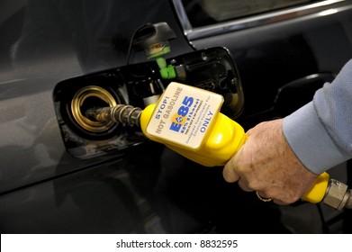 E85 Ethanol Gas Fuel Pump in Washington state, U.S.A. Editorial.