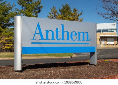 EAGAN, MN/USA - APRIL 28, 2018: Anthem healthcare facility and sign. Anthem, Inc. is an American health insurance company.