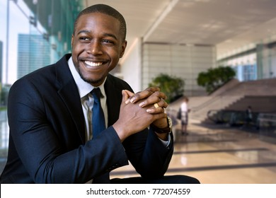 Eager excited enthusiastic business man at job interview new hire for company executive