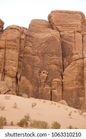 Eagle mountain in Wadi Rum, Jordan