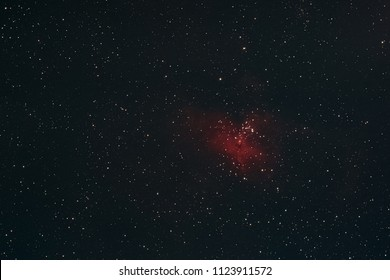 The Eagle Nebula in the constellation Serpens as seen from Mannheim in Germany.