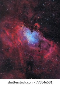 The Eagle Nebula (Messier 16) including the Pillars of Creation and the Stellar Spire