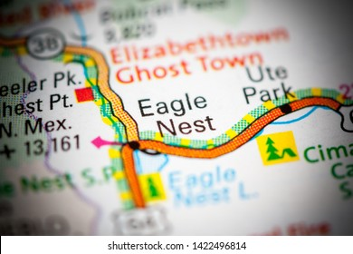 Eagle Nest. New Mexico. USA on a map