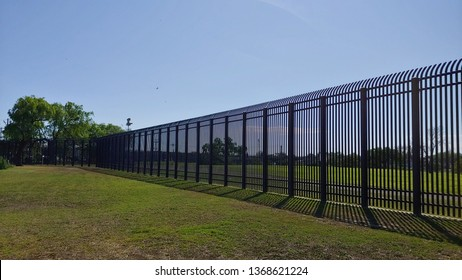Eagle Pass, Texas - April 7, 2019   U.S. Congress passed the 2006 Secure Fence Act. The United States of America and Mexico Border Wall was constructed, which is part of a costly and ongoing project.