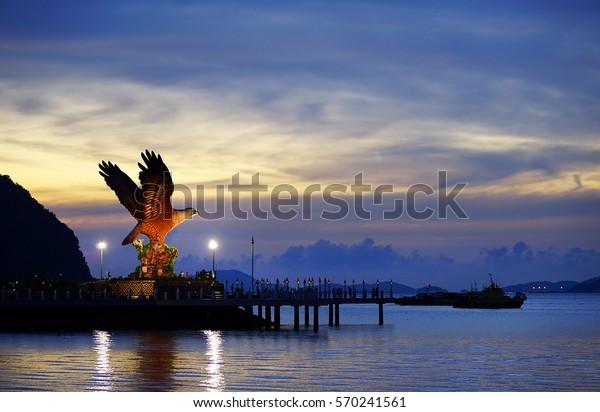 Eagle symbol in Kuah town, Langkawi, Malaysia, Asia