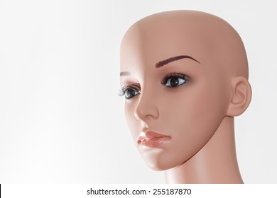 Ealistic mannequin head isolated on white