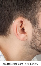 ear with acoustic instrument