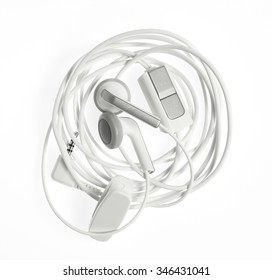 Ear Buds wound up with clipping path