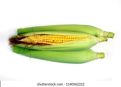 Ear corn isolated on white background