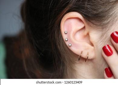 Helix Piercing Images Stock Photos Vectors Shutterstock