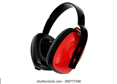 Ear Protection � Red / Ear Protection Isolated on White Background