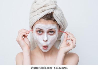 Ear sticks. Woman clean ears ear sticks
