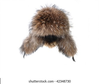 7709ec6e660 earflaps fur cap winter one on white background