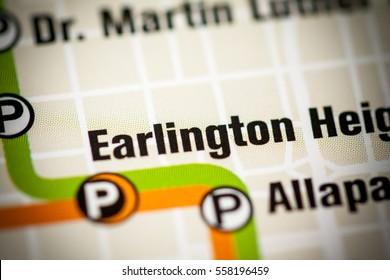 Earlington Heights Station. Miami Metro map.