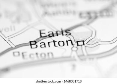 Earls Barton. United Kingdom on a geography map