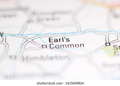Earl's Common. United Kingdom on a geography map