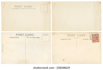 Early 1900's torn and creased Post Cards, including one blank one