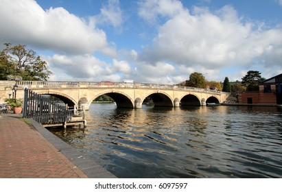 Early Autumn by the River Thames in England with Henley Road Bridge in the background