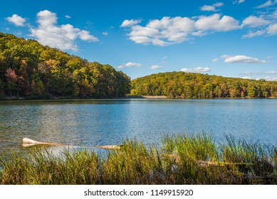 Early autumn color at Greenbrier Lake, at Greenbrier State Park in Maryland