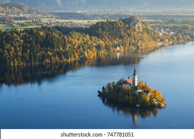 Early autumn morning at lake Bled