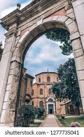 Early Christian Church San Vitale in Ravenna, Italy.