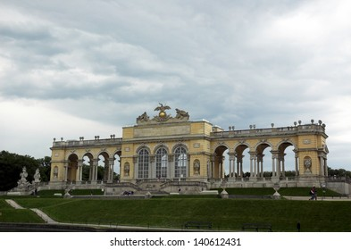 The Early Classicistic colonnaded Gloriette was built to Hohenberg's designs on the crest of the hill in 1775.