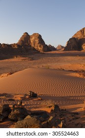 early day in Wadi Rum , Jordan
