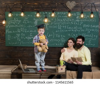 Early development concept. Early development of child to be ready for school. Early development in family. Early development in home schooling. Ambition of the young.