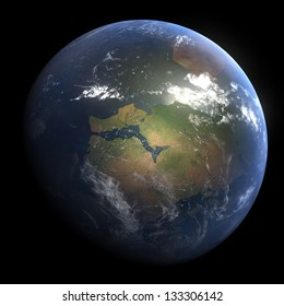 Early Devonian Earth - 440 Million Years Ago