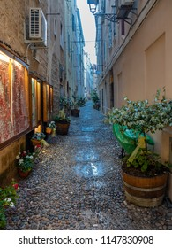 The early evening Alghero after the spring rain, the island of Sardinia, Italy