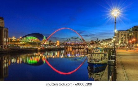 Early evening on Newcastle Quayside, England