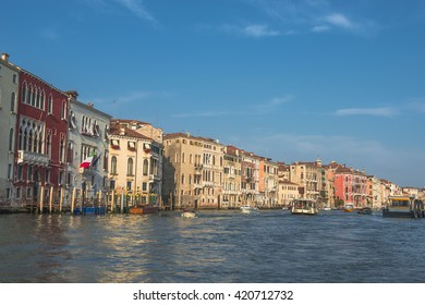 Early evening with sunset at amazing Venice, Italy, summer, 2015
