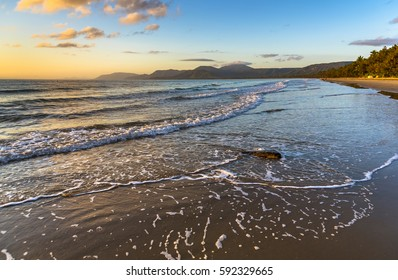 early morning 4 mile beach tropical Port Douglas Queensland