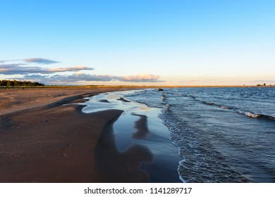 Early morning in the baltic sea coastline