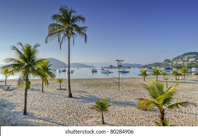 Early Morning in the Beach in Angra dos Reis, in Rio de Janeiro, Brazil