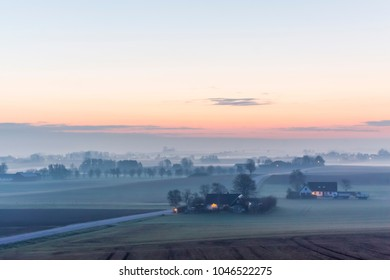 Early morning in the countryside, south of Skane, Sweden