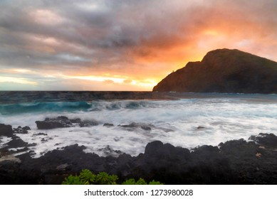 Early morning dawn at Makapuu on the south shore of Oahu,