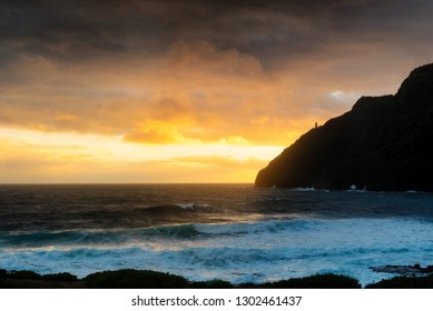 Early morning dawn at Makapuu on the south shore of Oahu, across