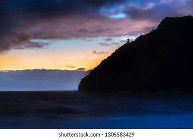 Early morning dawn at Makapuu on the south shore of Oahu, across from Sea Life Park