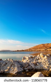 Early morning at the Dead Sea in Israel