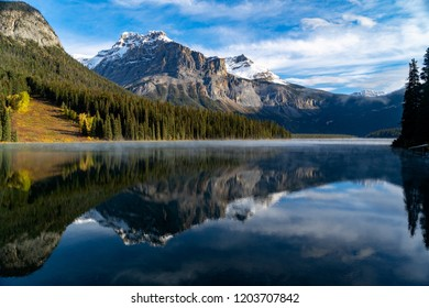 Early morning at Emerald Lake in Yoho National Park, British Colombia, canada