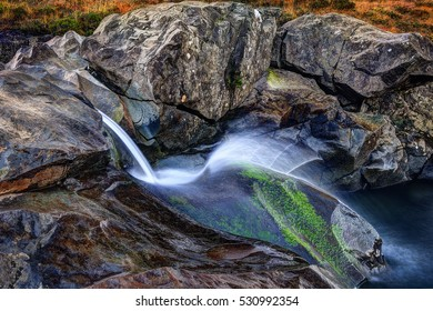 Early morning in Fairy Pools, Glen Brittle, Isle of Skye, Inner Hebrides, Highlands, Scotland